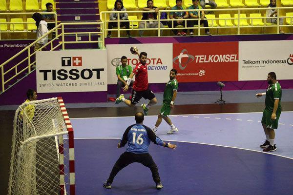 تیم ملی هندبال ایران برابر الاهلی قطر به پیروزی رسید