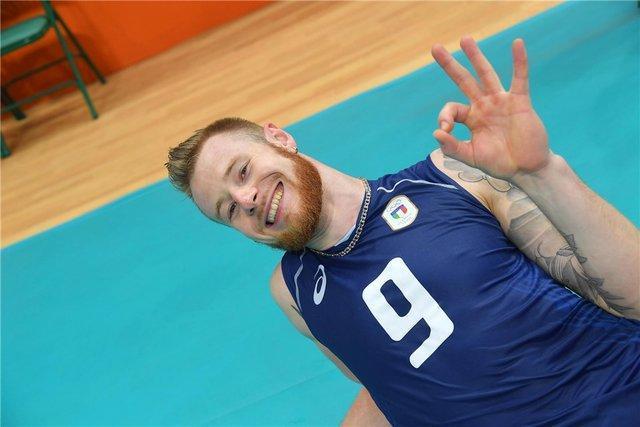 زایتسف امتیازآورترین بازیکن دیدار والیبال ایتالیا برابر ایران