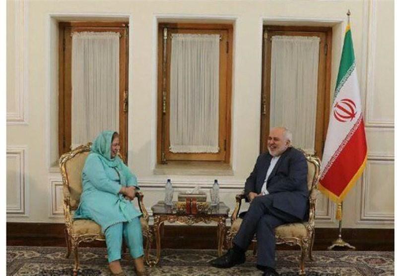سفیر پاکستان در انتها ماموریتش با ظریف دیدار کرد