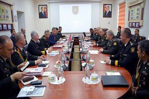 نشست مقامات نظامی ترکیه و جمهوری آذربایجان در باکو