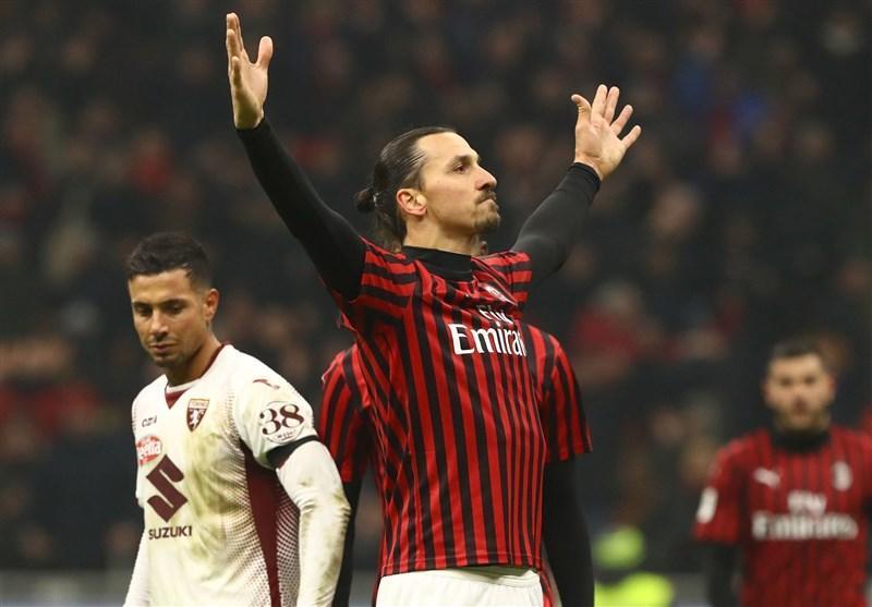 جام حذفی، میلان با گلزنی زلاتان رقیب یوونتوس در نیمه نهایی شد