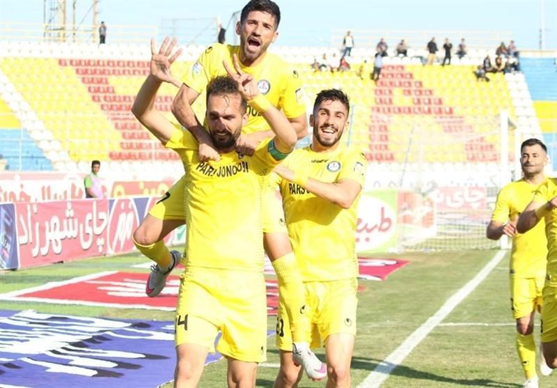 لیگ برتر فوتبال، پیروزی پارس جنوبی مقابل گل گهر در نیمه اول