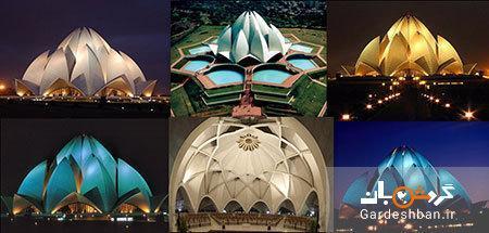 معبد لوتوس یا نیلوفر آبی از جاذبه های هند، تصاویر