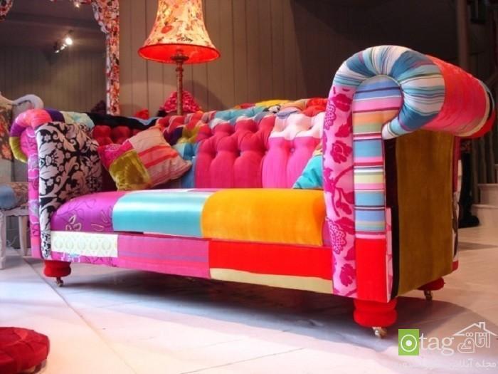 مدل پارچه های رنگارنگ در دکوراسیون خانه