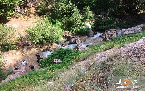 آبشار شاهان دشت آمل؛پاتوق گردشگران تهرانی
