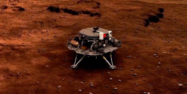 نخستین مریخ نورد چین در سیاره سرخ فرود آمد