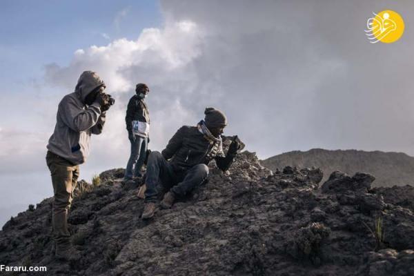 (تصاویر) نبض آتشفشان کنگو در دست زمین شناسان