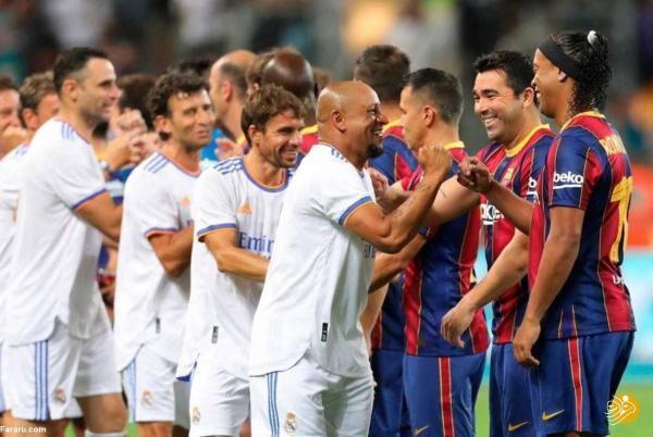 خلاصه بازی مهیج اسطوره های رئال 3 ، 2 اسطوره های بارسلونا